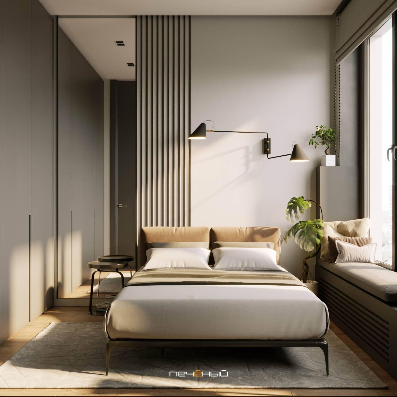 Всё о дизайне спальни без окна