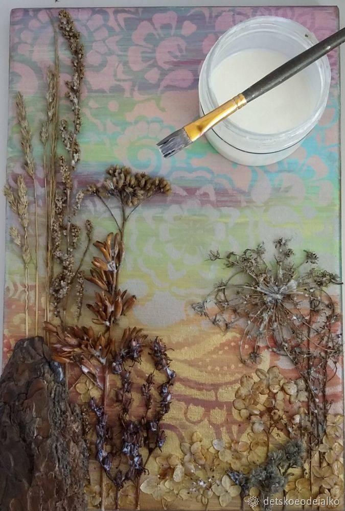 Поделки из сухоцветов   страна мастеров