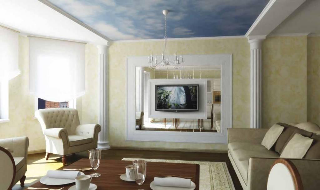 Акцентные стены в интерьере гостиной и спальной, примеры и фото