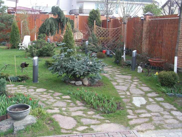 Садовые дорожки своими руками: составление плана расположения, материалы для мощения. работы по обустройству дорожек