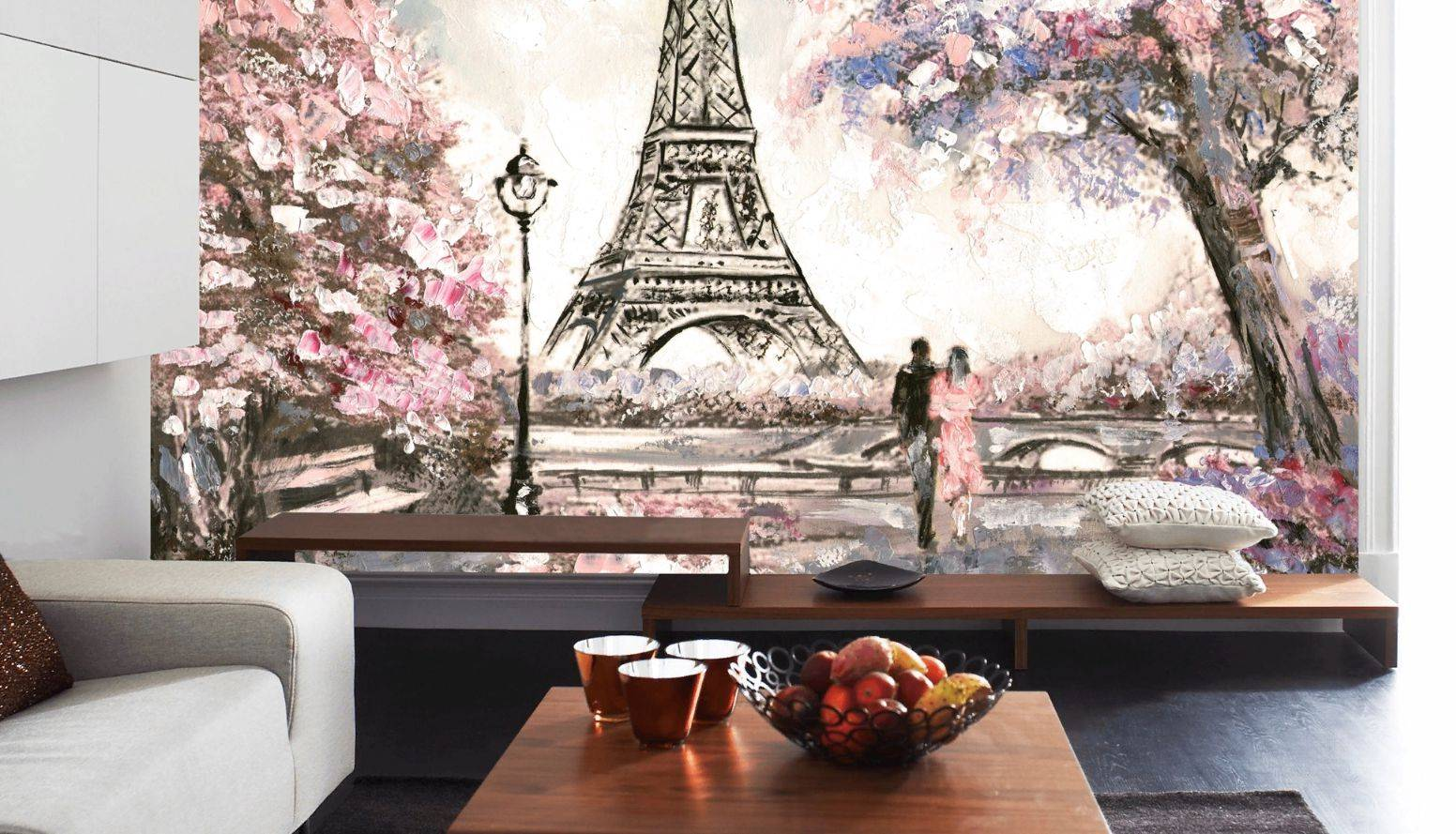 Обои для маленькой комнаты: выбор цвета, рисунка, расширяющие фотообои, комбинирование