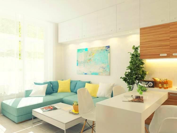 Гармоничный союз жёлтого и серого цветов для создания модного и элегантного интерьера