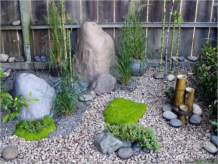 Японский сад камней в храме рёан-дзи