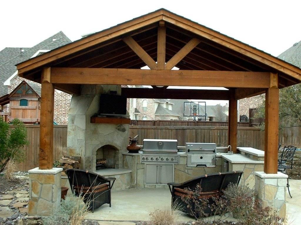 Недорогая летняя кухня на даче своими руками: 25 фото