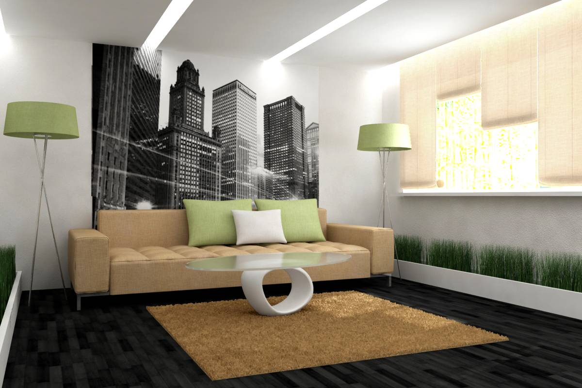 Дизайн стен в гостиной (77 фото): современные идеи оформления стенок, модная окраска и выбор ламинаат, стеновые панели и другие варианты отделки