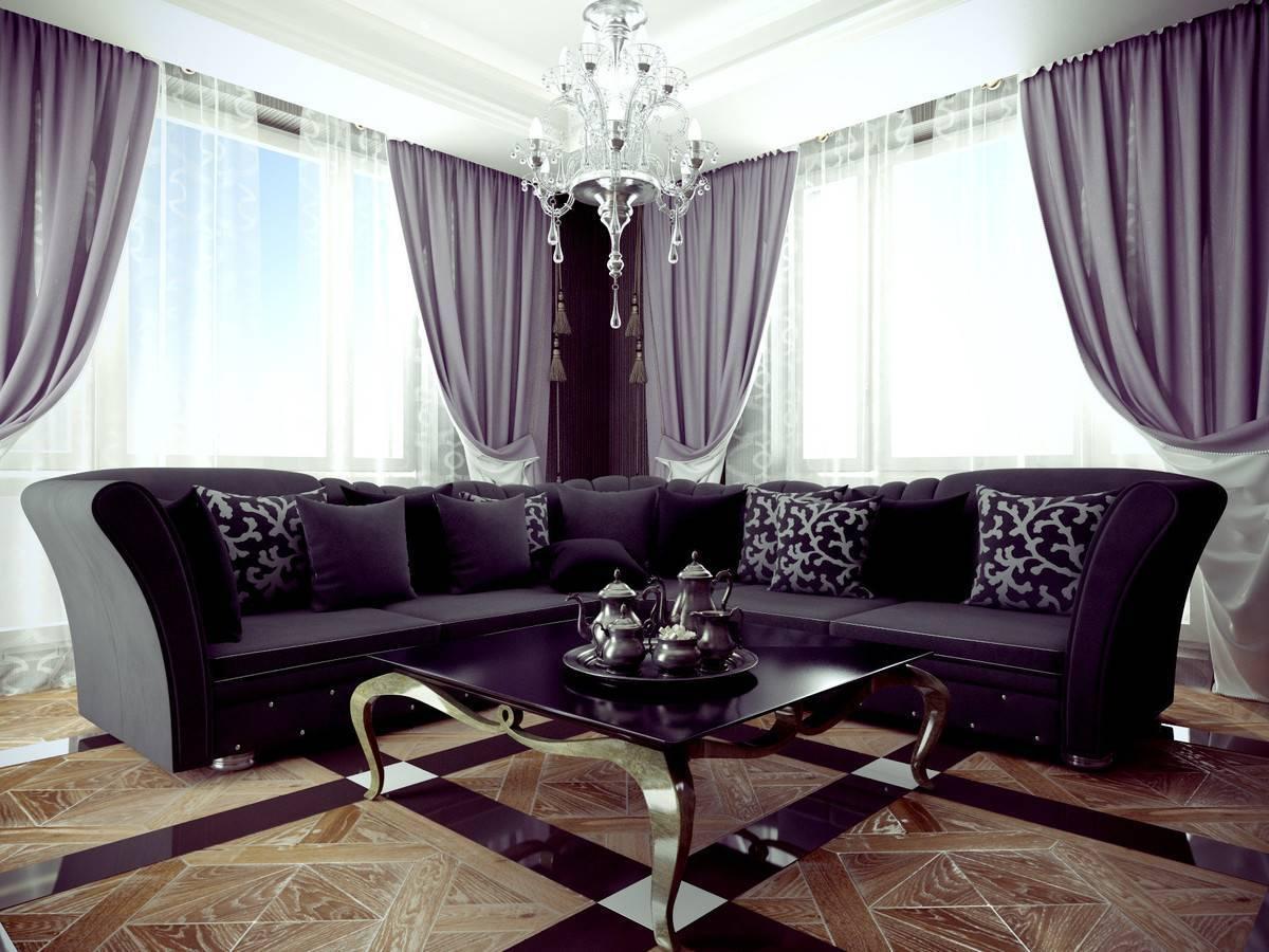 Как подобрать шторы к интерьеру: выбираем в гостиную по цвету обоев и мебели » интер-ер.ру