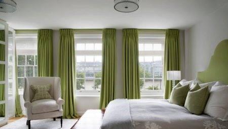 Зеленые шторы в интерьере: 42 идеи для вдохновения - арт интерьер