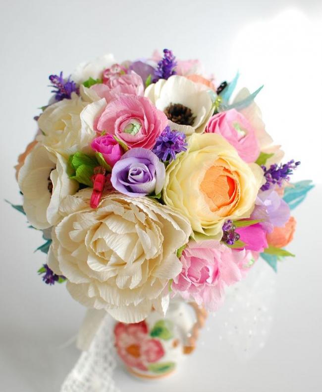 Объемные цветы из бумаги своими руками. пошаговые инструкции + 400 фото