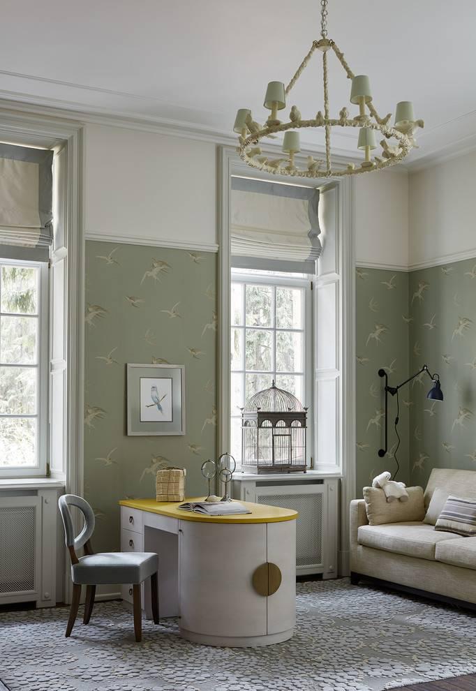 Зеленая гостиная - 75 фото нежного дизайна гостиной с зеленым оттенком