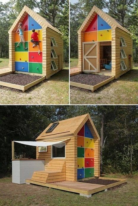 Детский домик для дачи: выбор материала, разметка домика и подготовка настила