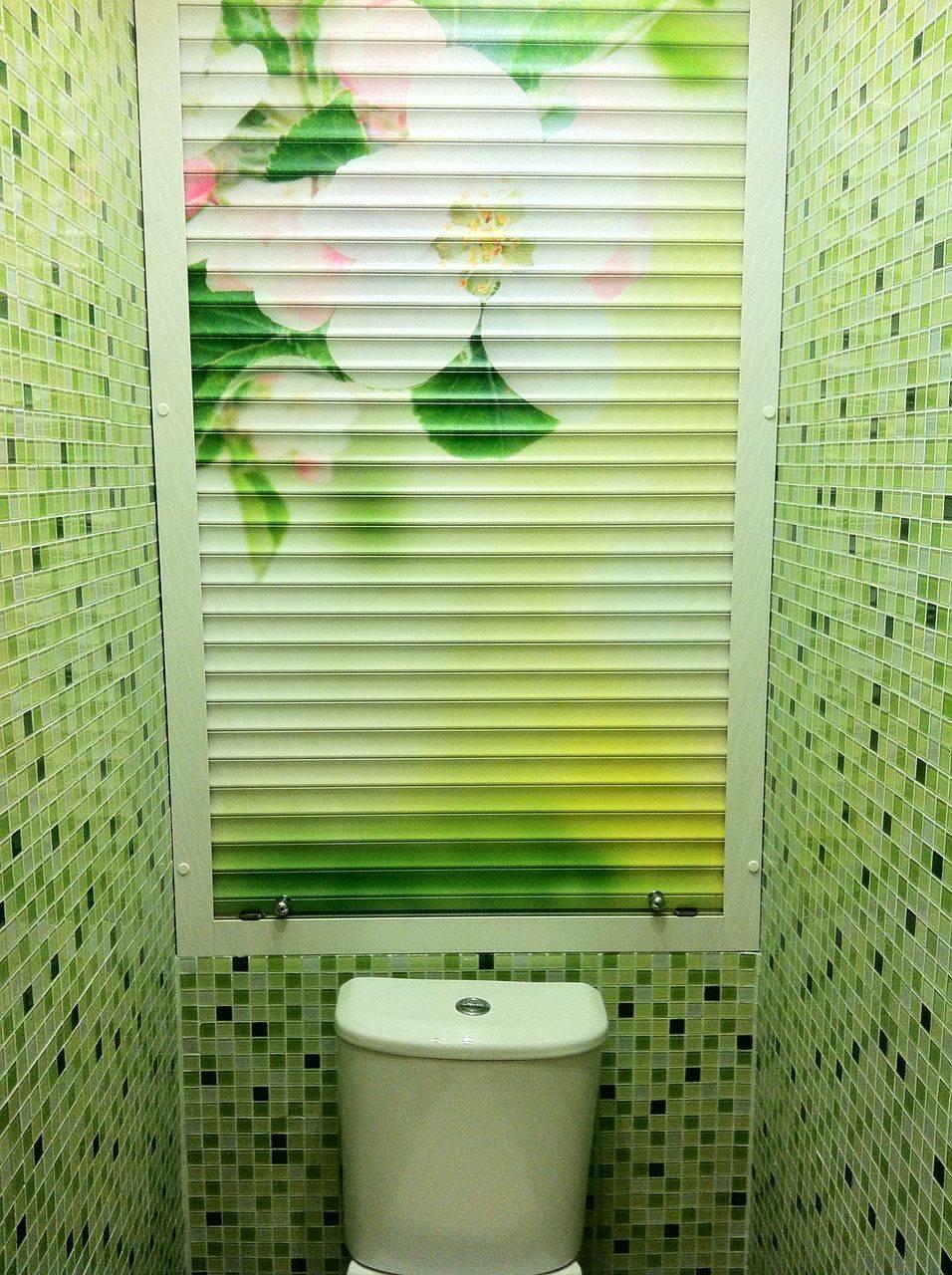 Рольставни в туалет с фотопечатью и сантехнические жалюзи: цены, размеры
