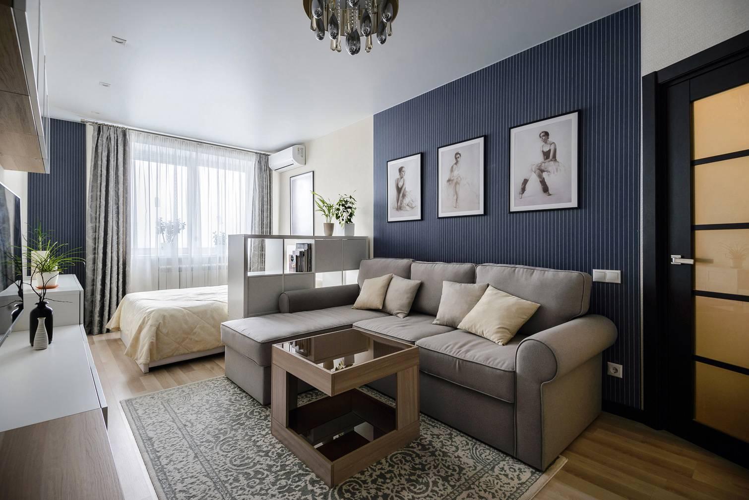 Интересные варианты кроватей в интерьере гостиных комнат