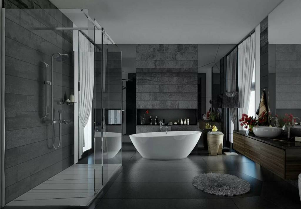 Ванная в стиле хай-тек 2017: 68 фото и идеи дизайна интерьера   the architect