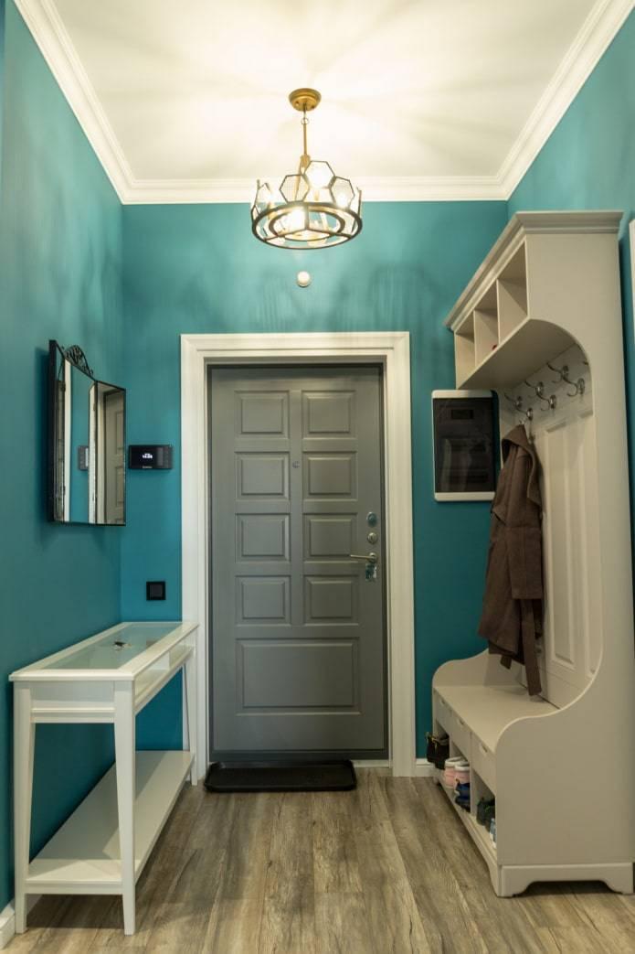 Покраска стен прихожей водоэмульсионной краской дизайн фото идеи