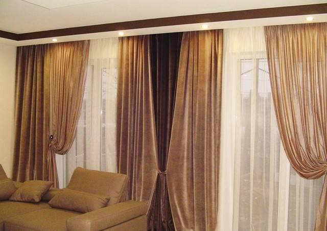 Выбор штор в помещение с двумя окнами