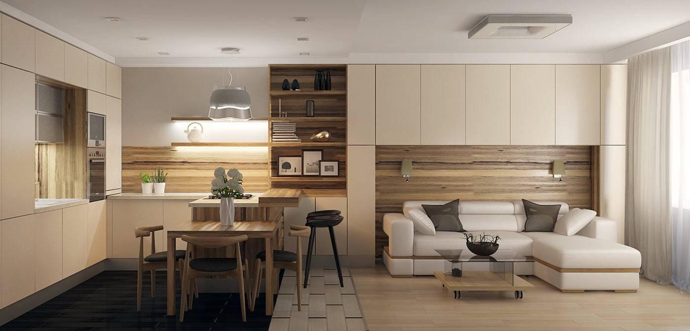 Как отделить кухню от гостиной: лучшие способы зонирования пространства (60 фото) | современные и модные кухни