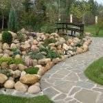 Светящиеся камни для сада и  ландшафтного дизайна - 10 фото