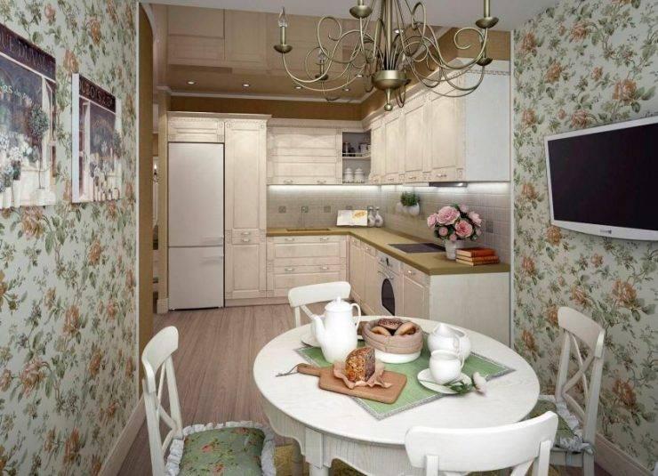Оформление потолка в кухне-гостиной