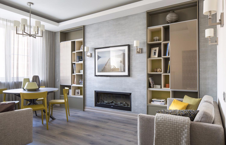 Стенка в гостиную в современном стиле: варианты + фото в интерьере
