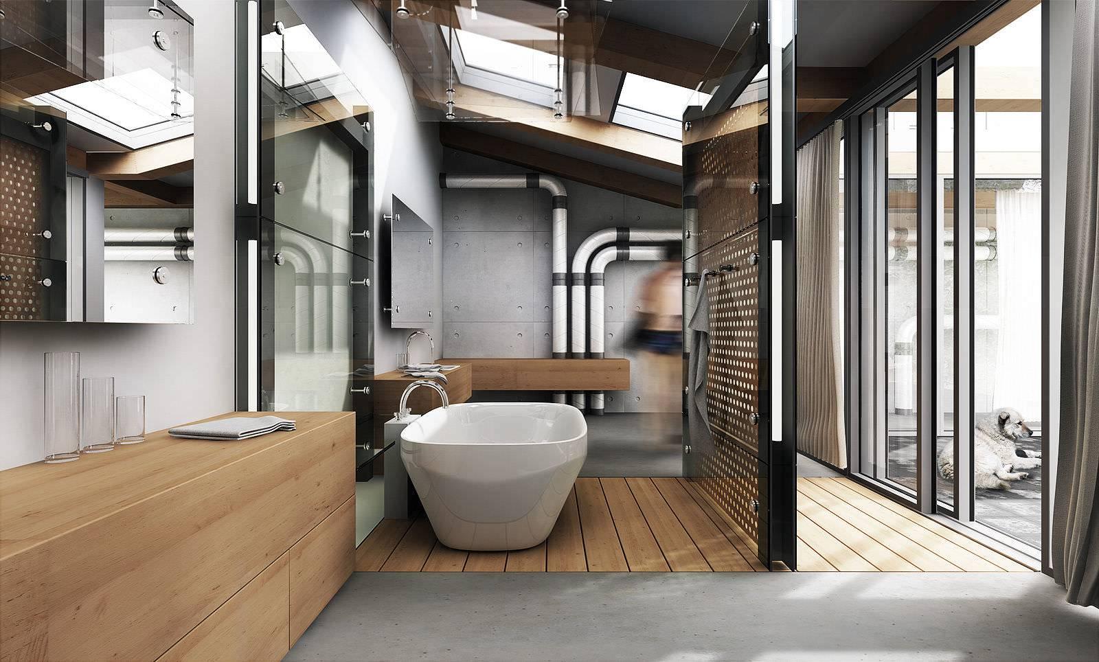 "Дизайн ванной комнаты в стиле ""лофт"" с фото"