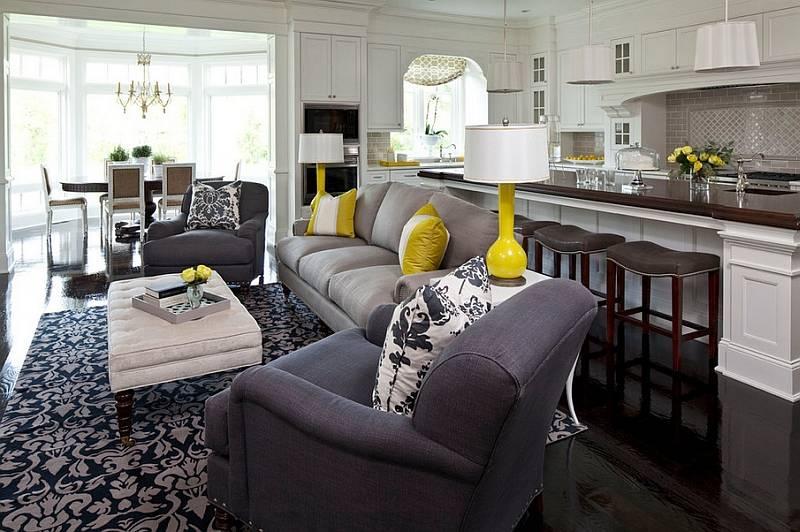 Желтый в интерьере: фото дизайна, 75 идей оформления комнат