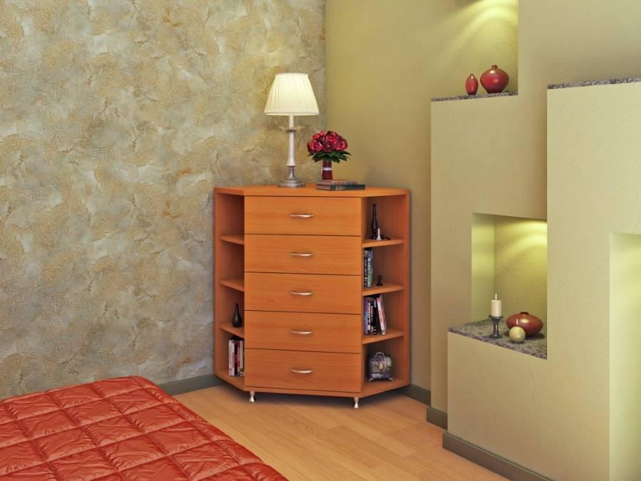 Конструкция углового шкафа в спальню: 3 основных типа
