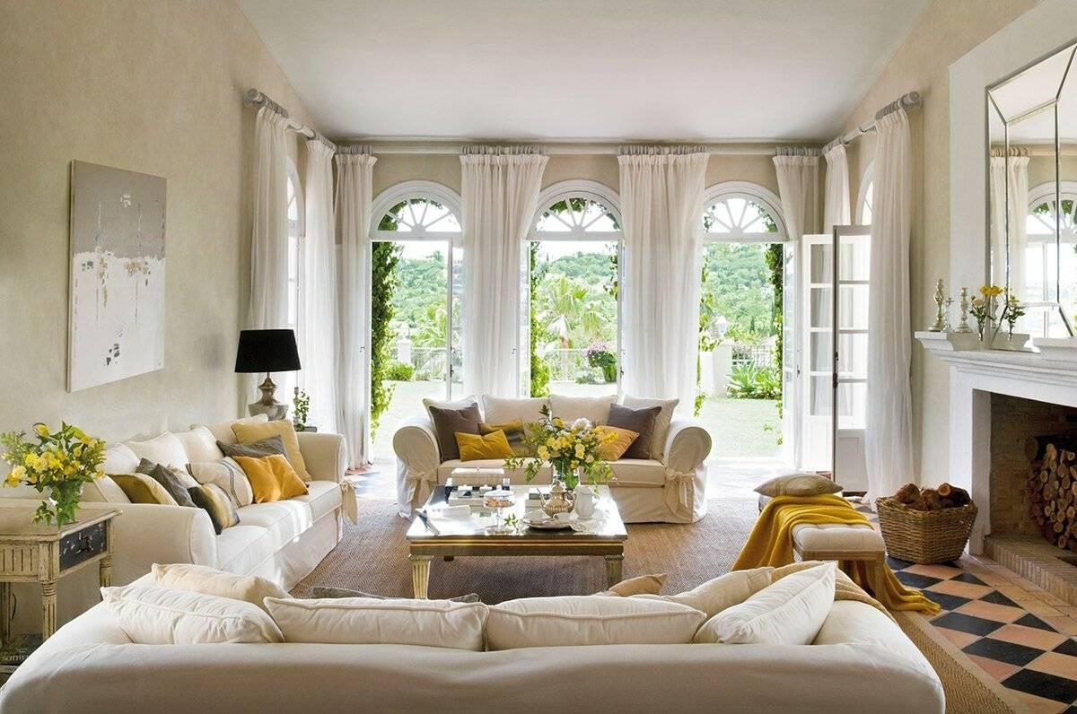 Гостиная в стиле прованс: 100 лучших идей дизайна на фото