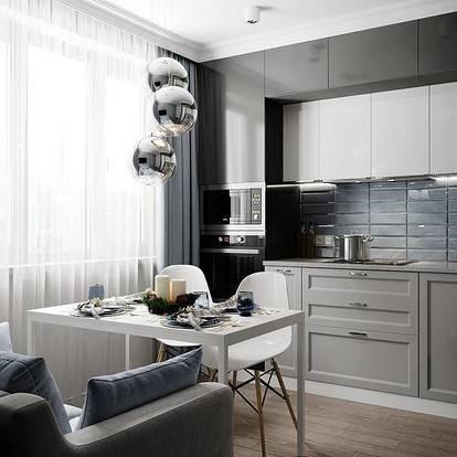 Кухня-гостиная площадью 30 кв.м.: варианты дизайна