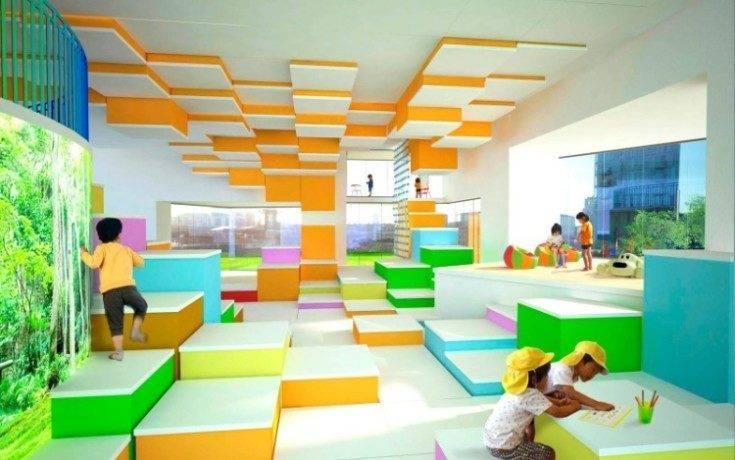 Оформление фасада детского сада, фото готовых решений, примеры