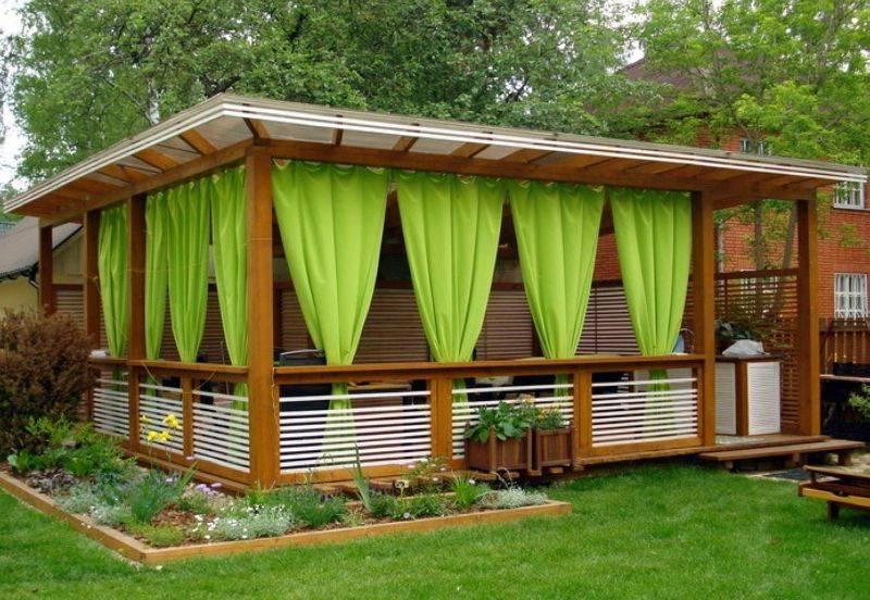 Садовые беседки (60 фото): металлическая застекленная веранда на участке, виды и размеры, сборная модель для сада и огорода