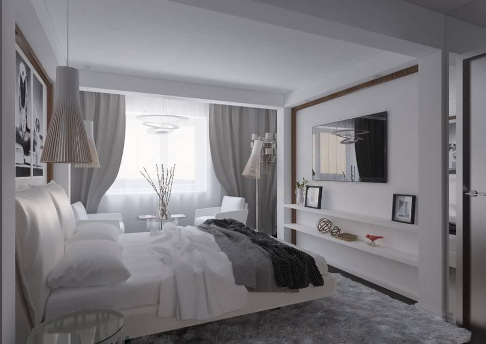 Дизайн маленькой спальни 9 кв. м: фото и 5 основных правил