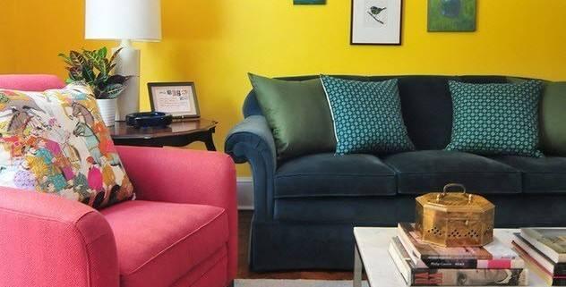 Сочетание желтого в интерьере: 105+ (фото) цветовых комбинаций