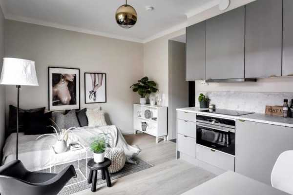 Дизайн квартиры-студии - современные идеи 2021 (50 фото): кухня-студия площадью 28 кв. м.
