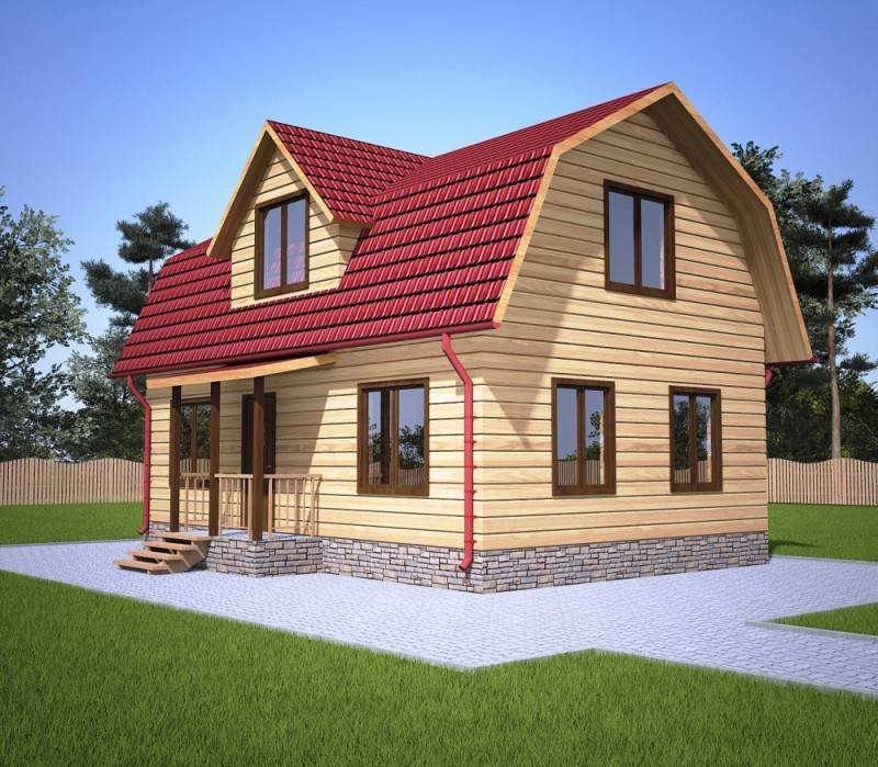 Крыша мансардного типа своими руками: монтаж конструкции каркаса