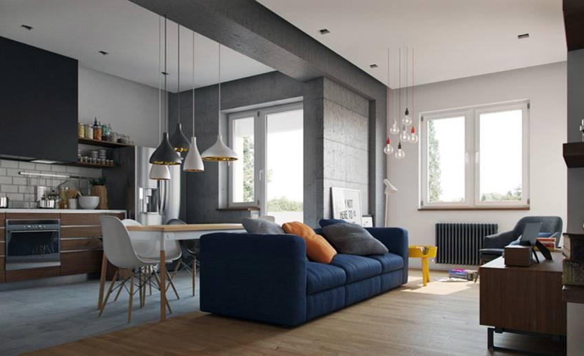 Дизайн кухни совмещенной с залом — 20 фото идей