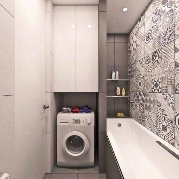 Ванная 6 кв. м как оформить функциональный интерьер с туалетом и стиральной машиной 79 фото