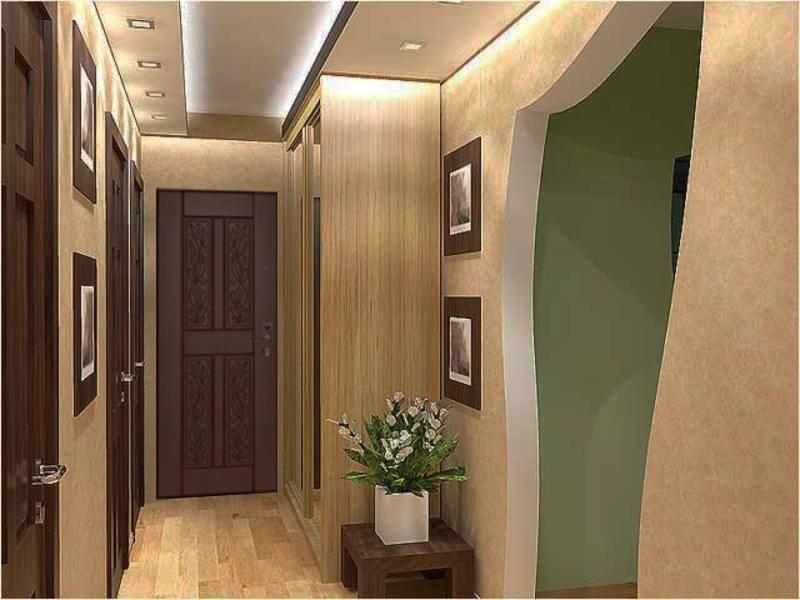 Удачные решения дизайна коридоров в хрущевках