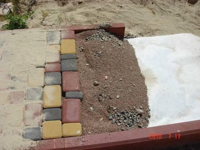 Укладка плитки тротуарной своими руками – пошаговая инструкция