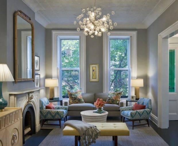 Освещение в гостиной: виды и примеры с фото дизайном