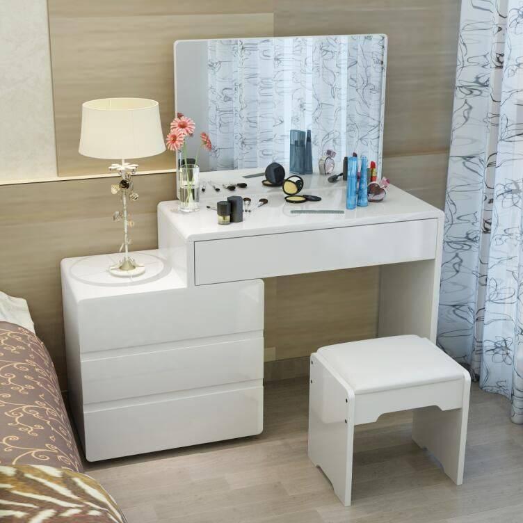 Современный туалетный столик с зеркалом для спальни: фото, виды, конфигурация, как подобрать и куда поставить