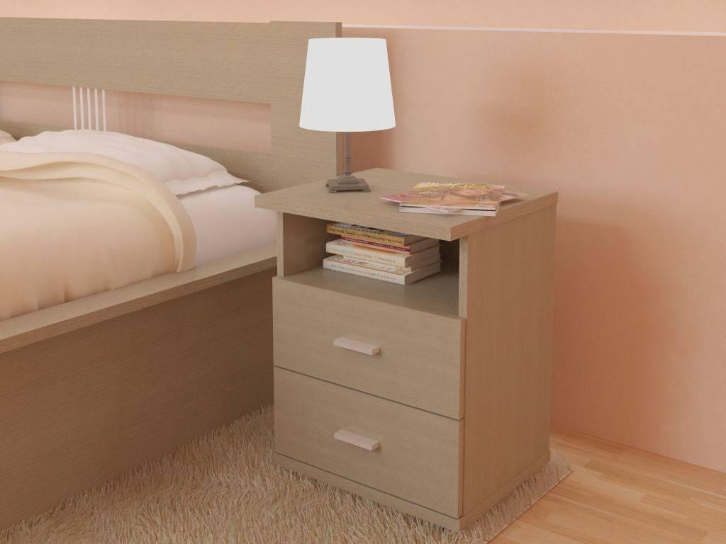 Подвесная прикроватная тумба в спальню - модели   фото
