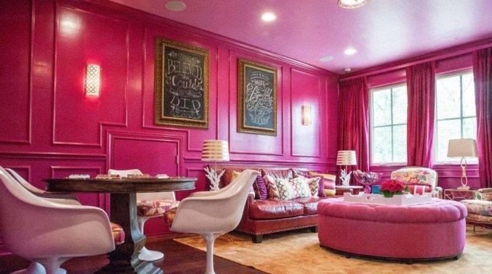 Розовый цвет в интерьере (220+ фото) - с каким цветом сочетается?