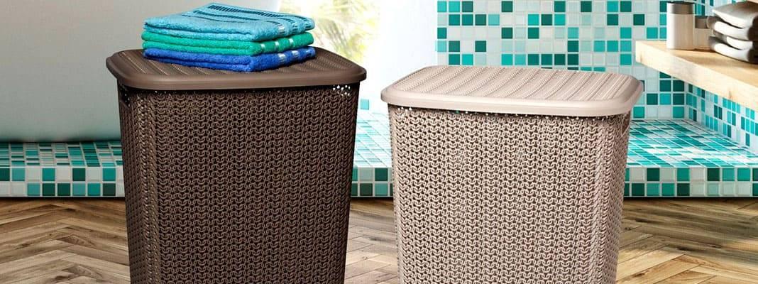 Корзина для белья в дизайне ванной комнаты: фото и советы