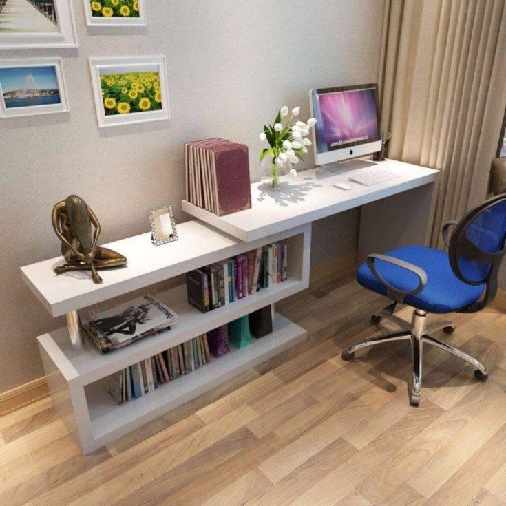 Стенка с компьютерным столом в интерьере — особенности и правила выбора