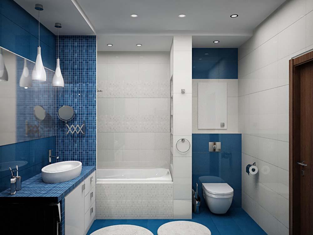 Дизайн ванной комнаты 2 на 2, правила идеальной планировки