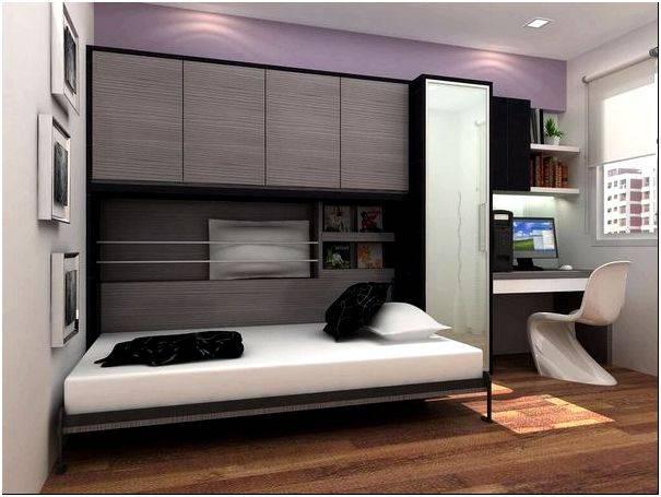 Кровать, встроенная в шкаф, механизмы крепления и трансформации