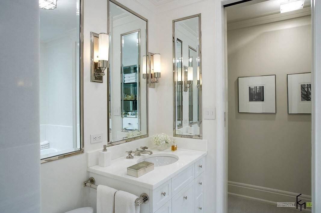Зеркало в ванной: на какой высоте вешать зеркало над раковиной