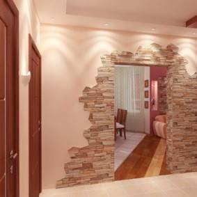 Камень в интерьере прихожей: особенности отделки, виды, цвет, стили и сочетания