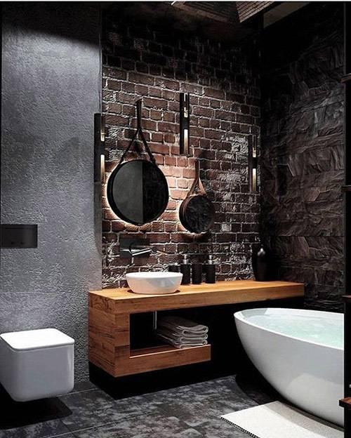 Ванная в стиле лофт - комфорт и соответствие модным трендам