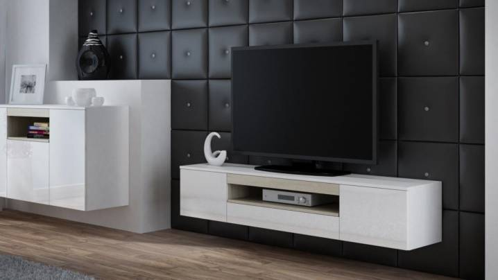 Тумба в гостиную длинная: мебель и комоды угловые, подвесной шкаф, модуль для посуды, высокий и стильный